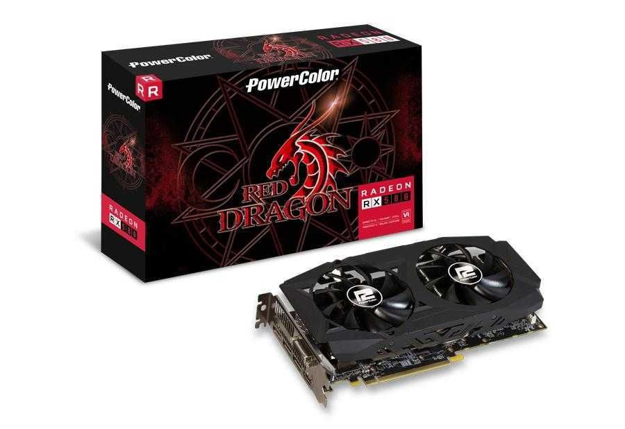 Placa de Vídeo AMD Radeon RX 580 Red Dragon 8 GB GDDR5 AXRX 580 8GBD5-3DHDV2/OC POWERCOLOR
