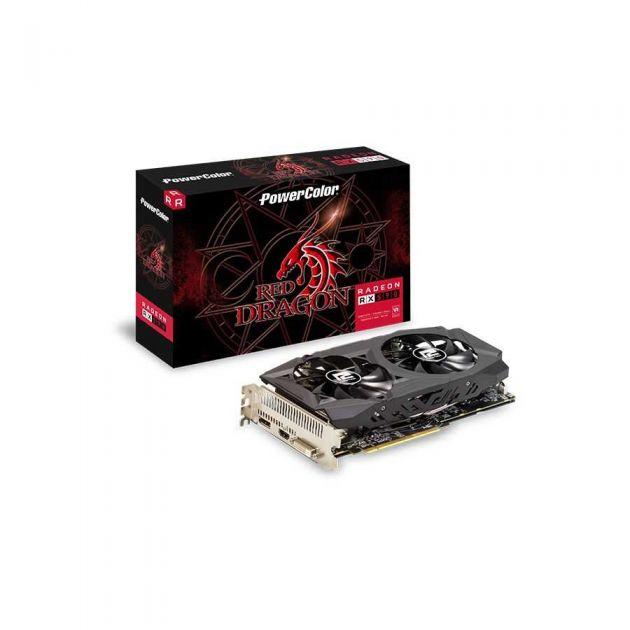 Placa de Vídeo AMD Radeon RX 590 RED DRAGON 8GB PowerColor