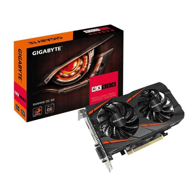 Placa de Vídeo AMD Radeon RX 550 Gaming OC 2GB GDDR5 GV-RX550GAMINGOC-2GD GIGABYTE