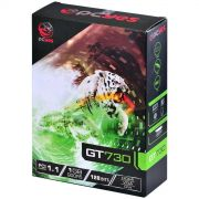 Placa de Vídeo NVIDIA GeForce GT 730 1GB DDR5 PCIe 1.1 PY730GT12801G5 PCYES
