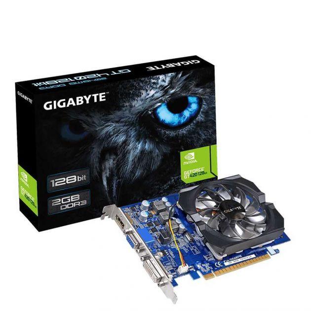 Placa de Vídeo NVIDIA GeForce GT 420 2GB DDR3 GV-N420-2GI GIGABYTE