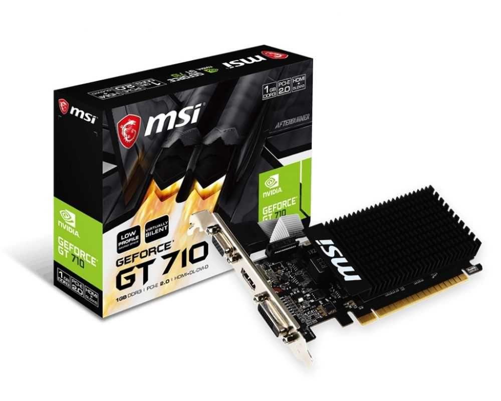 Placa de Vídeo NVIDIA GeForce GT 710 LP 1GB DDR3 MSI