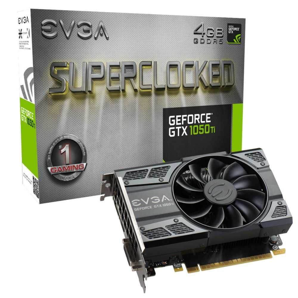 Placa de Vídeo NVIDIA GeForce GTX 1050 Ti SC GAMING 4 GB GDDR5 04G-P4-6253-KR EVGA