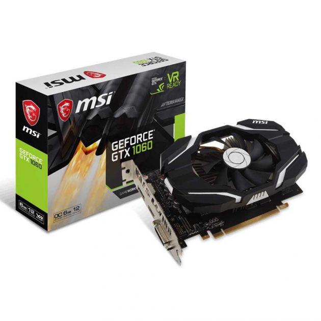 Placa de Vídeo NVIDIA GeForce GTX 1060 OCV1 6 GB GDDR5 PCI-e 3.0 912-V328-274 MSI