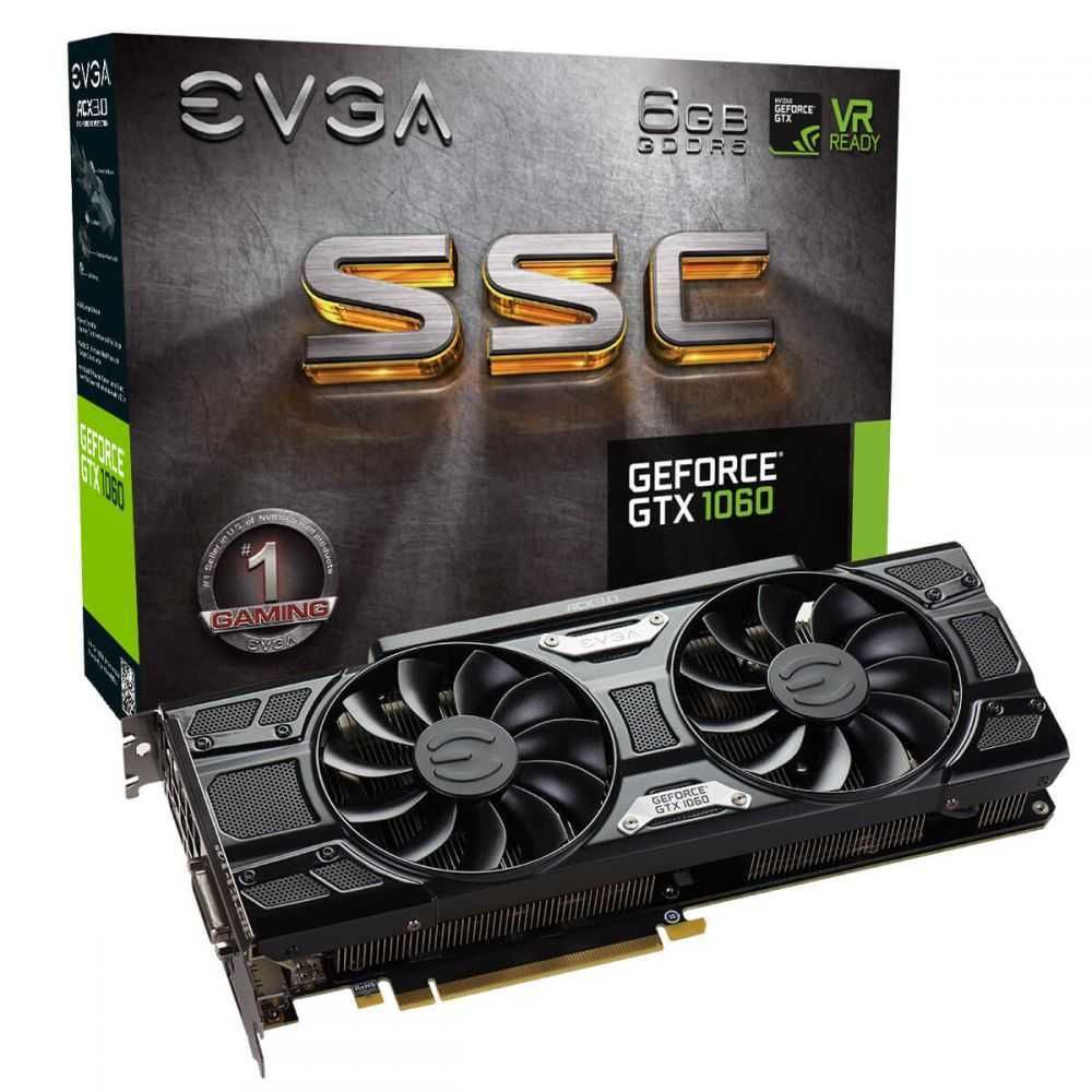 Placa de Vídeo NVIDIA GeForce GTX 1060 SSC GAMING 6GB GDDR5 06G-P4-6267-KR EVGA