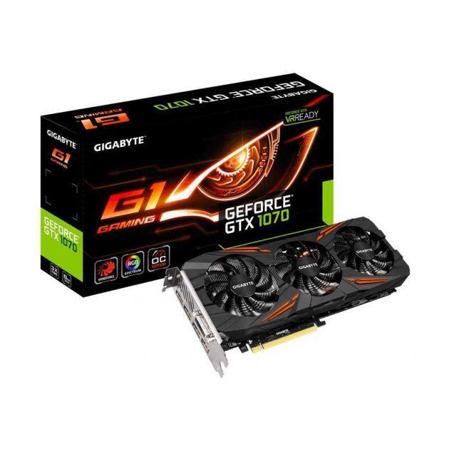 Placa de Vídeo NVIDIA GeForce GTX 1070 G1 Gaming 8 GB GDDR5 GV-N1070G1GAMING-8GD GIGABYTE