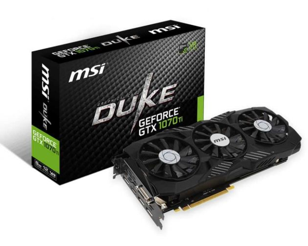 Placa de Vídeo NVIDIA GeForce GTX 1070 Ti DUKE 8GB GDDR5 912-V330-255 MSI