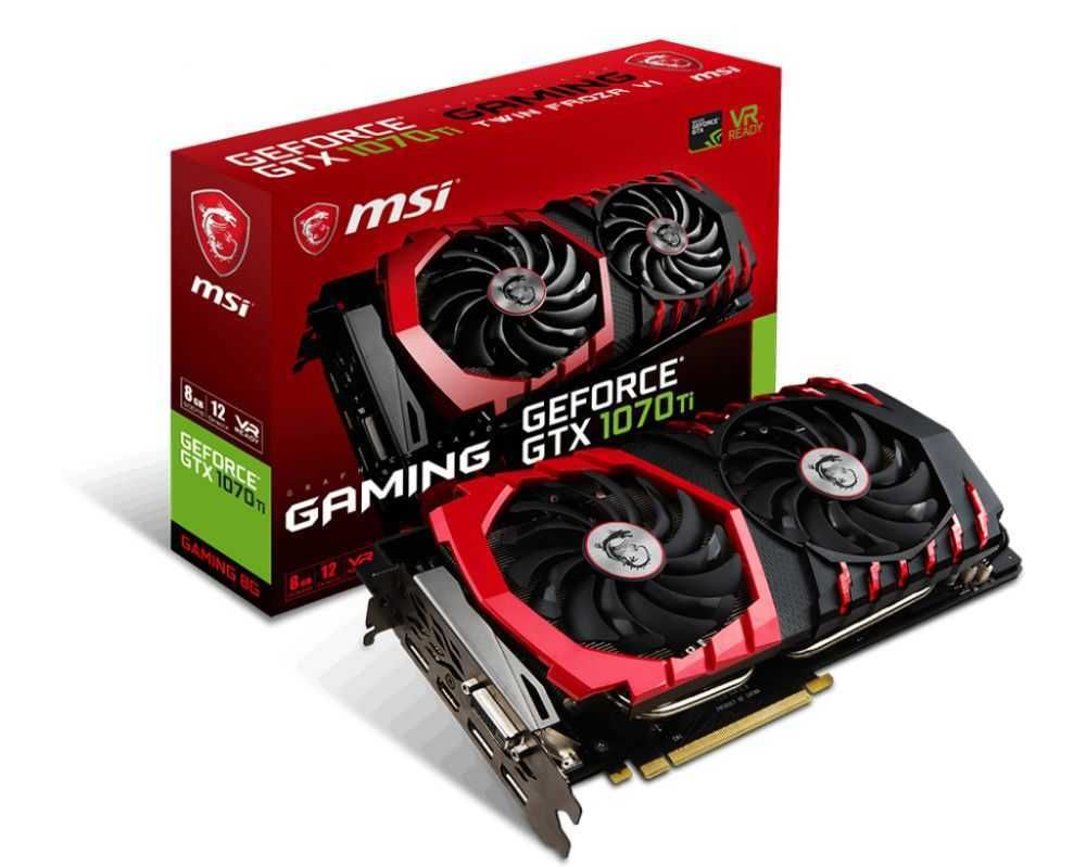 Placa de Vídeo NVIDIA GeForce GTX 1070 Ti GAMING 8GB GDDR5 912-V330-245 MSI