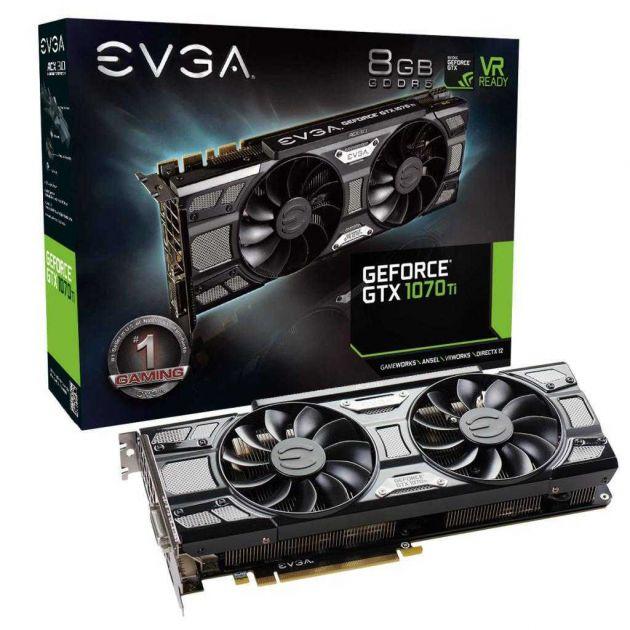 Placa de Vídeo NVIDIA GeForce GTX 1070 Ti SC Gaming 8GB GDDR5 08G-P4-5671-KR EVGA
