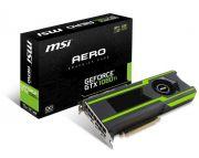 Placa de Vídeo NVIDIA GeForce GTX 1080 Ti Aero OC 11GB GDDR5X 912-V360-028 MSI