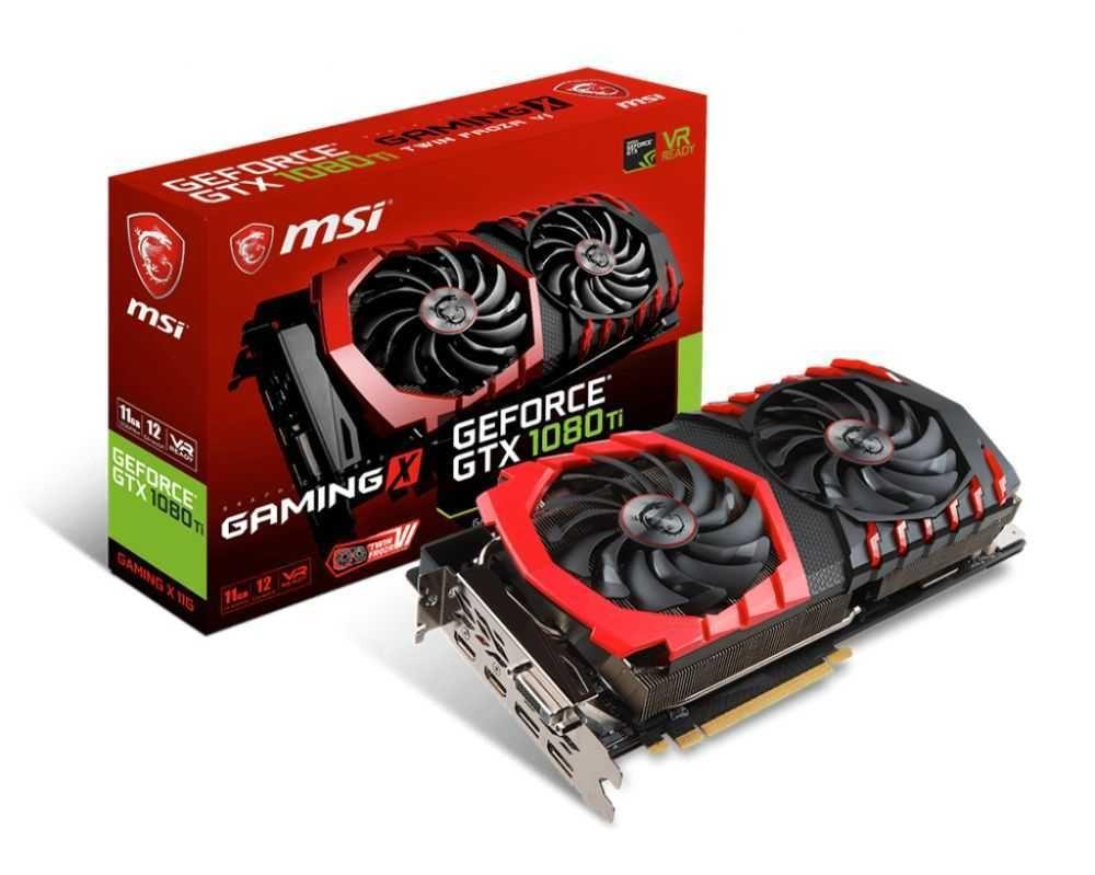 Placa de Vídeo NVIDIA GeForce GTX 1080 Ti Gaming X 11GB GDDR5X 912-V360-001 MSI