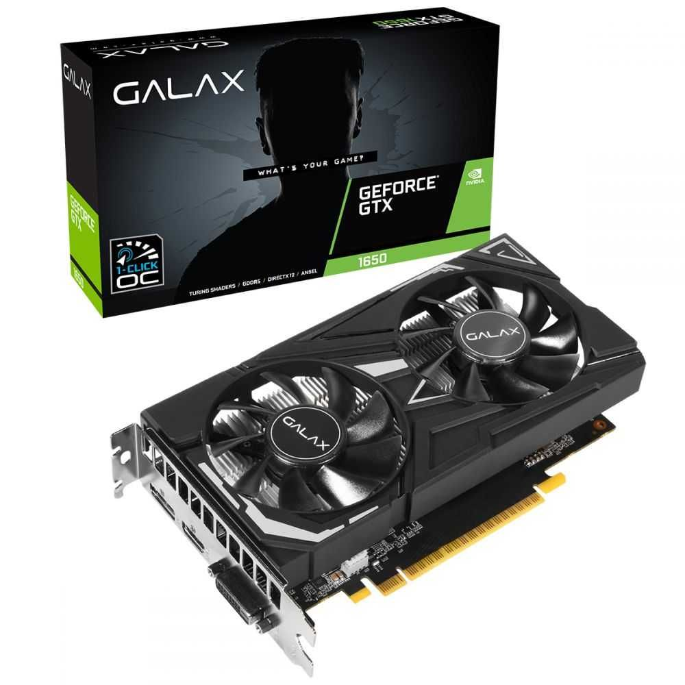 Placa de Vídeo NVIDIA GEFORCE GTX 1650 EX OC 4GB GDDR5 GALAX