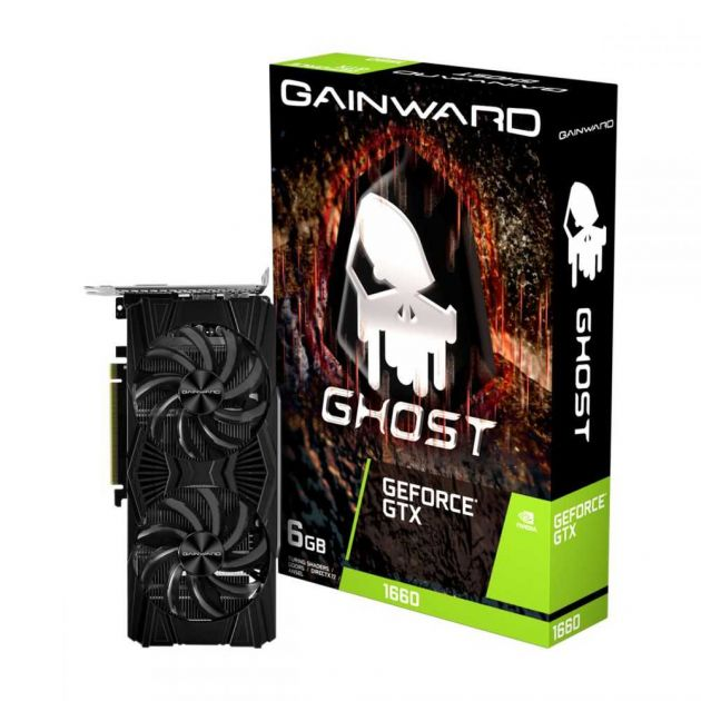 Placa de Vídeo NVIDIA GeForce GTX 1660 Ghost 6GB GDDR5 PCI-E 3.0 NE51660018J9-1161X GAINWARD