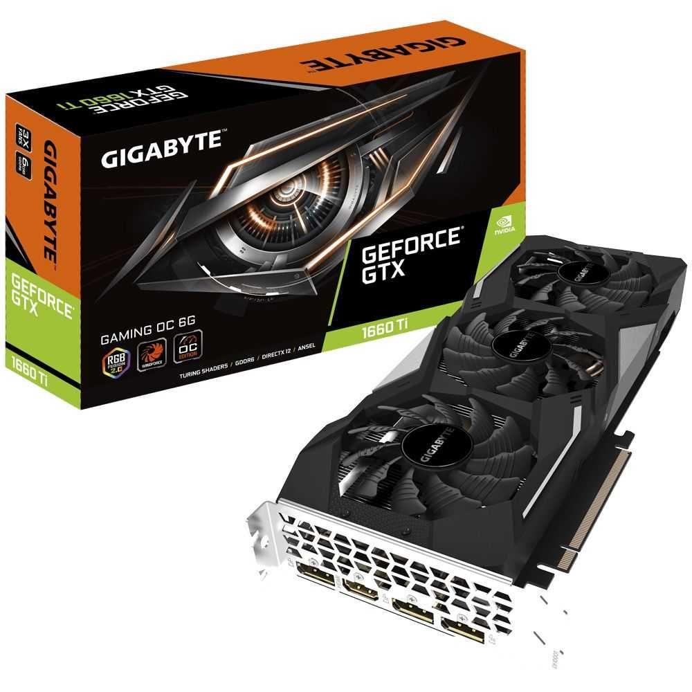 Placa de Vídeo NVIDIA GeForce GTX 1660 Ti OC6GB GIGABYTE
