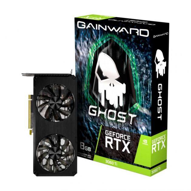 Placa de Vídeo NVIDIA GeForce RTX 3060 TI Ghost V1 8GB GDDR6 LHR NE6306T019P2-190AB V1 GAINWARD