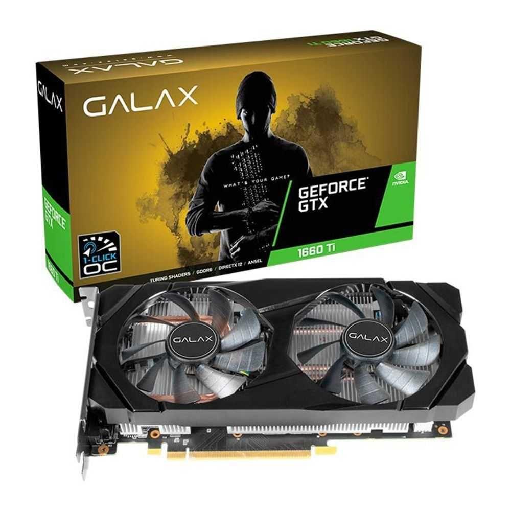 Placa de Vídeo Nvidia GTX 1660 TI OC 6GB GALAX