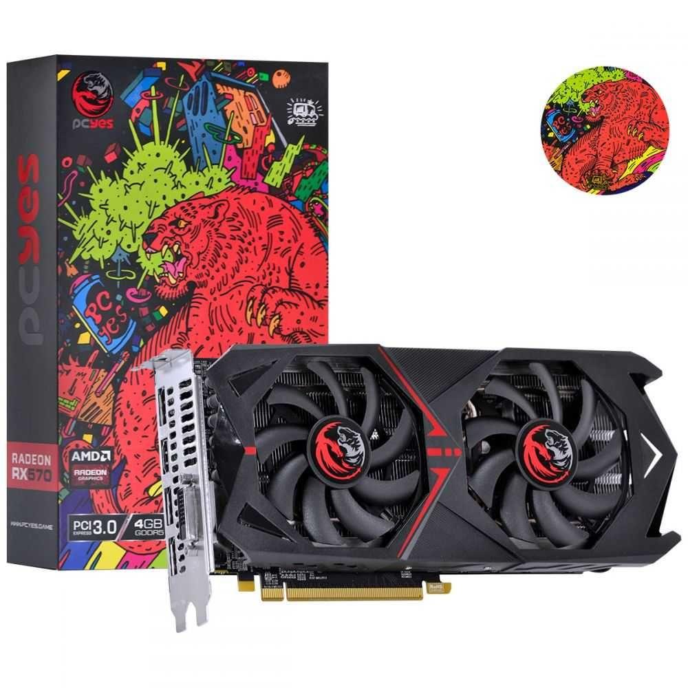 Placa de Vídeo AMD Radeon RX 570 Graffiti 4GB GDDR5 PCI-E 3.0 PJ570RX256GD5 PCYES