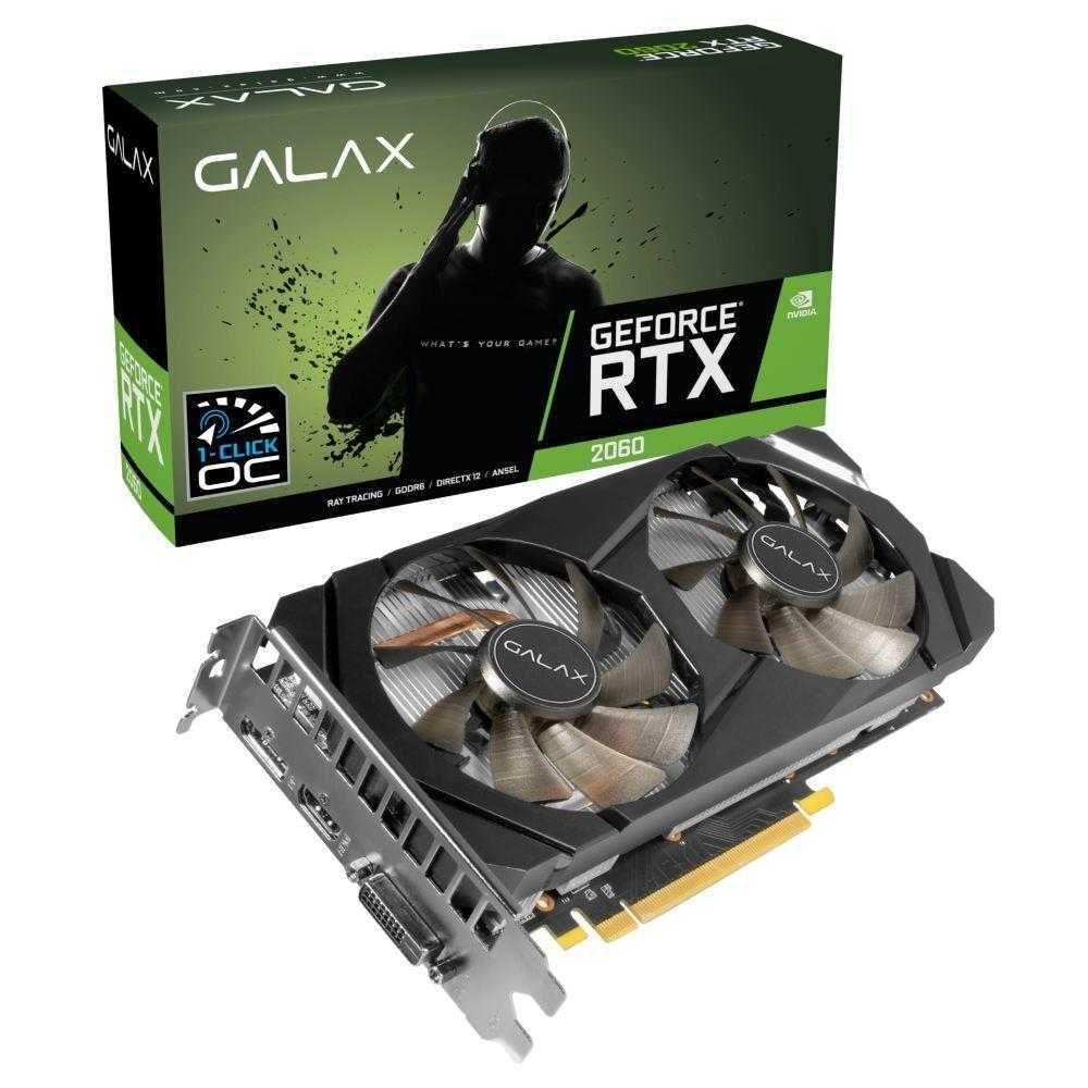 Placa de Vídeo NVIDIA RTX 2060 OC 6GB GALAX
