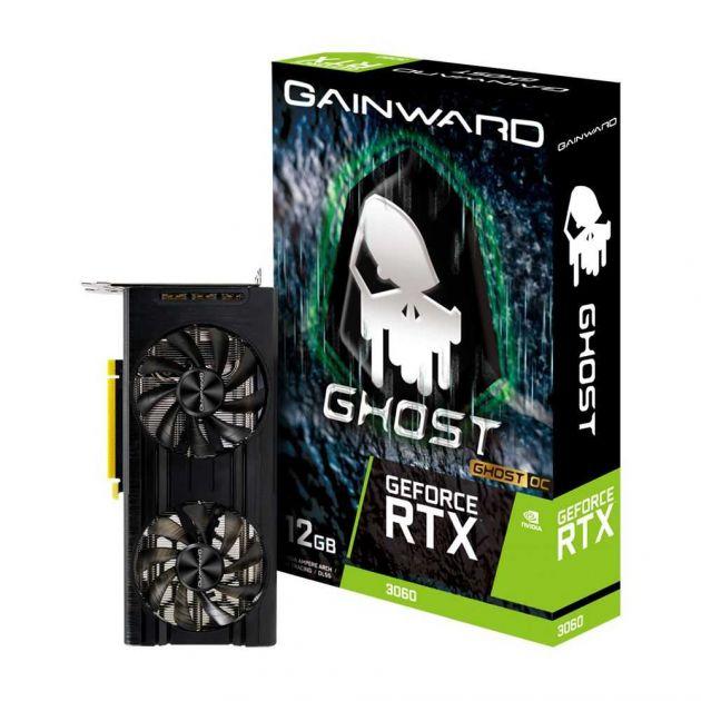 Placa de Vídeo Nvidia RTX 3060 Ghost OC 12GB GDDR6 PCI-E 4.0 NE63060T19K9-190AU GAINWARD