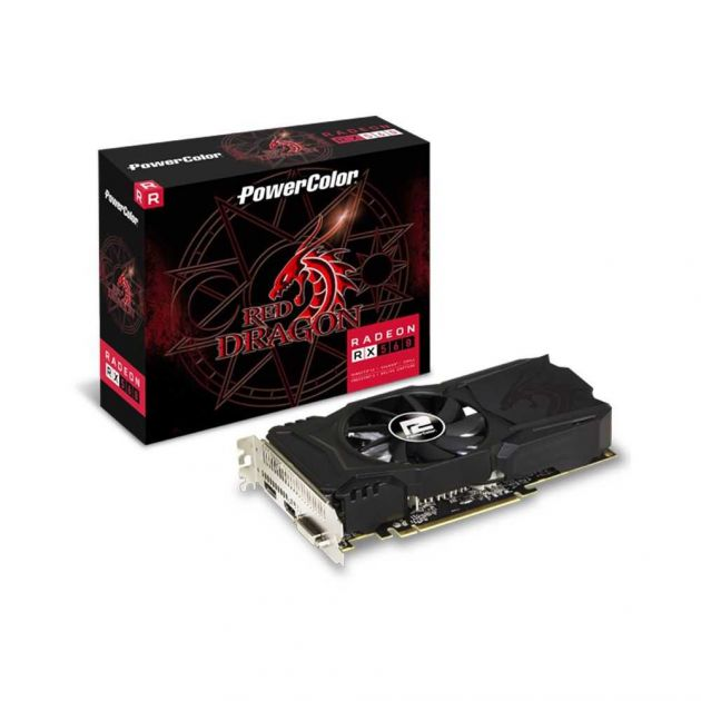 Placa de Vídeo AMD Radeon RX 560 Red Dragon 2GB GDDR5 AXRX 560 2GBD5-DHAV2 POWERCOLOR
