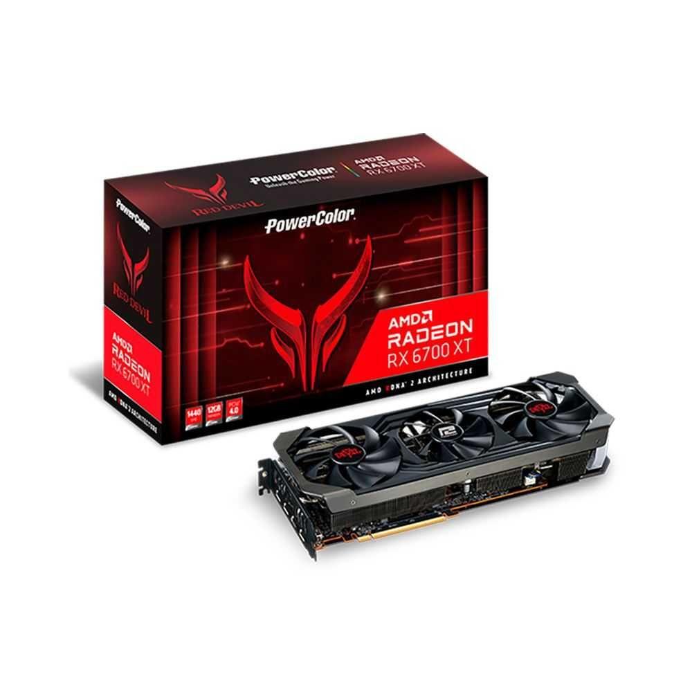 Placa de Vídeo Radeon RX 6700XT Red Devil 12GB GRRD6 PCIE 4.0 12GBD6-3DHE/OC POWERCOLOR
