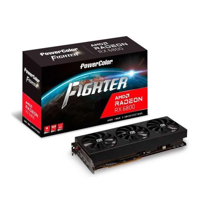 Placa de Vídeo Radeon RX 6800 Fighter AXRX 16GB GDDR6 PCI 4.0 16GBD6-3DH/OC Power Color
