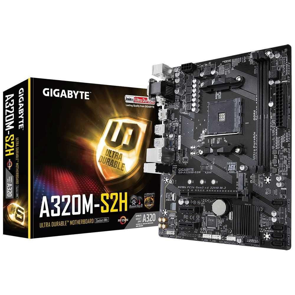 Placa Mãe A320M-S2H AMD AM4 mATX DDR4 GA-A320M-S2H GIGABYTE