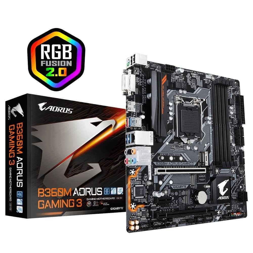 Placa Mãe B360M Aorus Gaming 3 Intel LGA1151 mATX DDR4 GIGABYTE