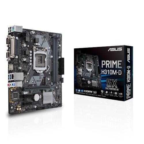 Placa Mãe PRIME H310M-D LGA 1151 mATX DDR4 90-MB0X60-M0EAYO ASUS
