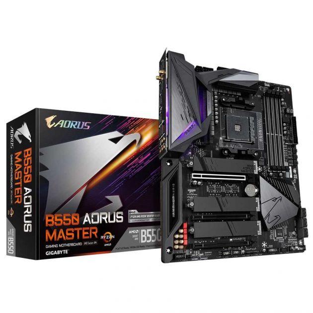 Placa Mãe B550 AORUS MASTER AMD AM4 ATX DDR4 Ryzen 3/Geração GIGABYTE