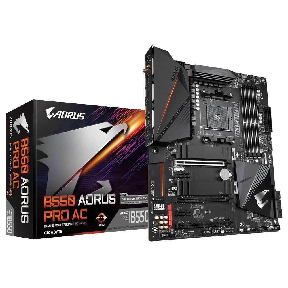 Placa Mãe B550 AORUS PRO AC AMD AM4 ATX DDR4 GIGABYTE