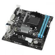 Placa Mãe Micro ATX 760GM-HDV AMD (AM3/AM3+) DDR3 DVI-D HDMI D-SUB USB 2.0 ASROCK