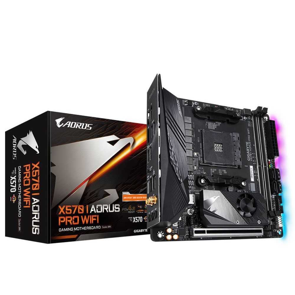 Placa Mãe X570 I AORUS PRO WIFI AMD AM4 Mini ITX DDR4 GIGABYTE