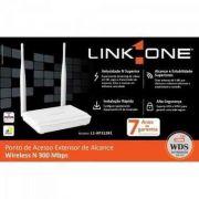Ponto de Acesso Extensor Wireless 300Mbps N 300 2,4GHZ L1-AP312RE LINK ONE