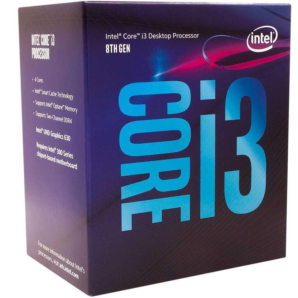 Processador CORE I3 8100 3,50MHz (3,60GHzFrequência Máxima) LGA1151 BX80684I38100 INTEL