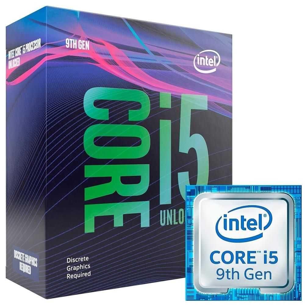 Processador Core i5 9600KF 3.7 GHz (4.6 GHz Frequência Máxima) LGA 1151 BX80684I59600KF INTEL