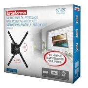 """SUPORTE ARTICULADO 3 MOVIMENTOS PARA TV LED, LCD, PLASMA, 3D E SMART TV DE 10 A 55"""""""" SBRP1020  JÁ VE"""