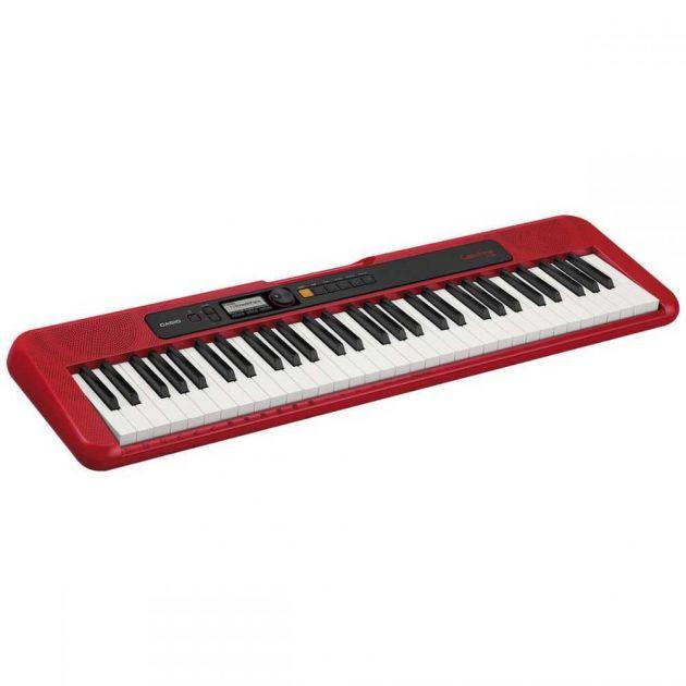 Teclado Musical CASIOTONE Basico Digital Vermelho CT-S200RDC2-BR CASIO