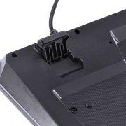 Teclado USB Gamer VX Gaming Draco com Macros LED 3 Cores Cabo 1.8m ABNT2 Preto VINIK