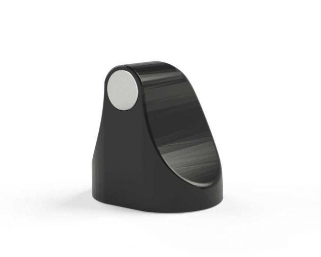 Trava Porta Magnético Preto Polido Comfort Door