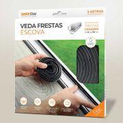 Veda Frestas Escova 10x7mm Cinza 5m COMFORT DOOR