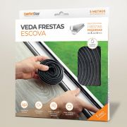 Veda Fresta Escova 5x7mm Cinza 5m COMFORT DOOR